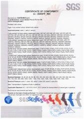 Certificate of Conformity EN 14141:2013